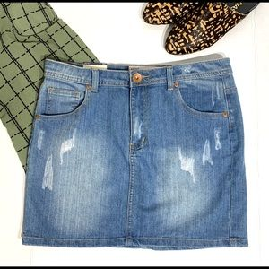 NWT Cotton On Distressed Denim Skirt - Size 8